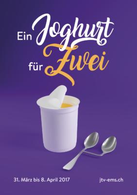 Ein Joghurt für zwei